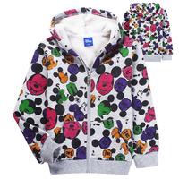 New Fashion kids boys hoodies coat Children's Cartoon Mickey Mouse long Sleeve T shirt/Sweatshirt car children hoody/outwear