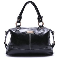 New arrive Genuine leather women's handbag new arrival fashion hydrowax 2013 cowhide shiny one shoulder cross-body handbag
