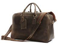 Free Shipping Fashion High Quality JMD 100% Genuine Leather Big Size Men Tote Travel Bags Handbag Luggage #7156R