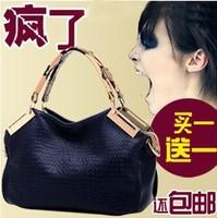 Free shipping Summer new arrival 2013 women's handbag women's shoulder bag cross-body handbag fashion crocodile pattern big bag