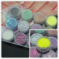 Hot selling New 12 Colors Fashion Tips  Nail Powder Nail Art accessories fnailsfree shipping nail acrylic glitter powder