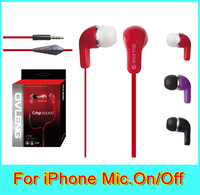 OVLENG IP740 dynamic stereo in-ear noise isolating  earphone with mic. metallic ear bud  for iphone mobile