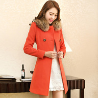 2013 Sweet Solid Color Stunning Style Worsted Long Sleeves Bow Tie Coat For Women New Turn-Down Collar Slim Woolen Outerwear