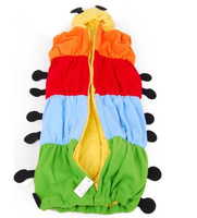 Free shipping,Baby sleeping bag,super  Colorful caterpillars sleeping bag caterpillar style sleeping bag