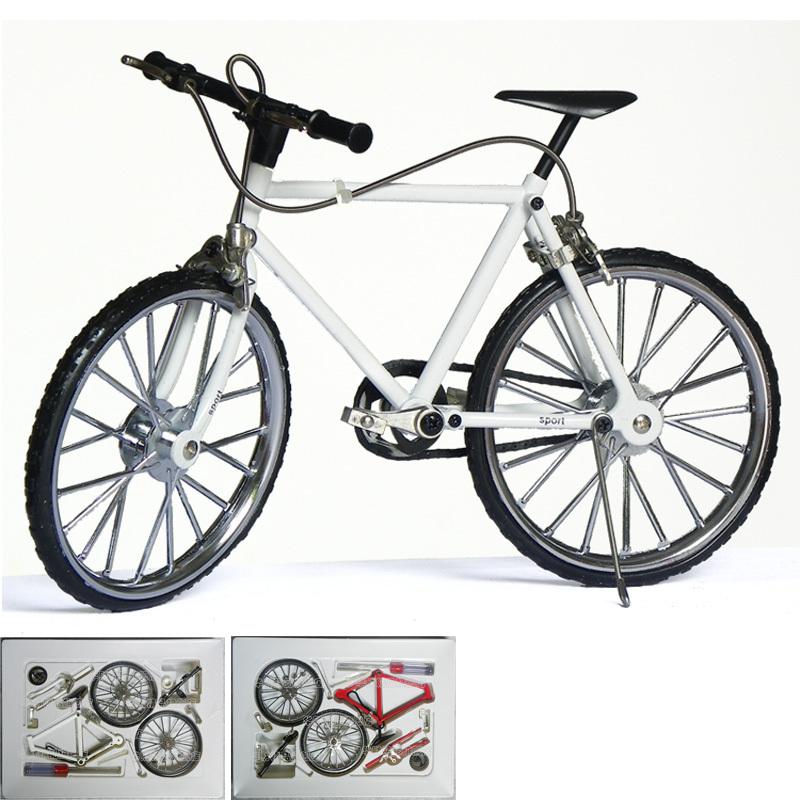 Hot-selling diy assembled bicycle alloy model mountain bike model =CmB2(China (Mainland))