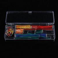 140 pcs U Shape Solderless Breadboard Jumper Cable Wire Kit For Arduino Shield #