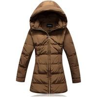 High quality plus size plus size plus size women's slim medium-long down coat thick  =Yr5