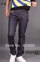 Wholesale Hot Men's jeans 2014 Famous Men Jeans Pants Straight Casual Denim Jeans Drop Shipping