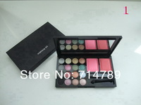 free shipping new makeup 16 colors eye shadow eyeshadow + 2 colors blush blusher with brush(10PCS/LOT)