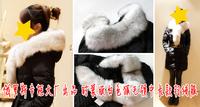 Down coat female white soft fur collar female medium-long slim down coat  =Yr5