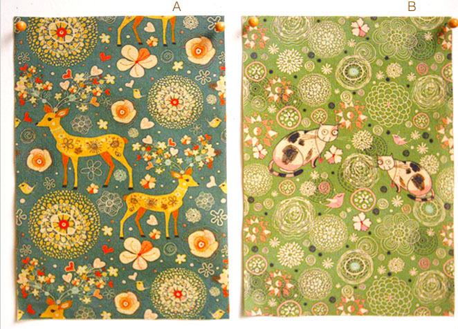 Free Shipping! 20x30cm pretty deer & cat cotton linen fabric -vintage DIY Zakka fabric(China (Mainland))