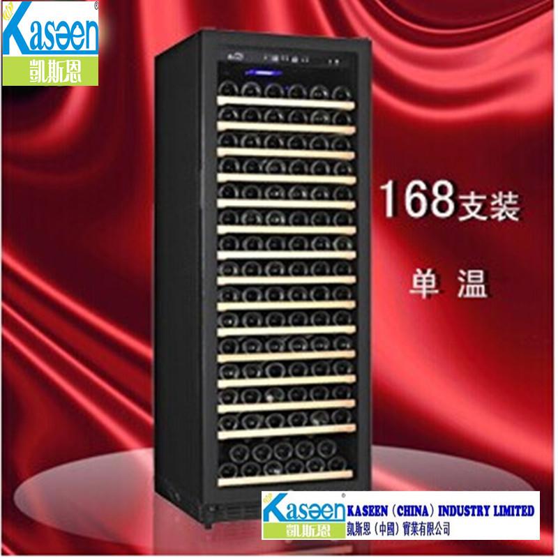 Verde Ling fornecimento grossista 168 compressor montado refrigerador de vinho refrigerador de vinho temperatura de temperatura única garrafa térmica de resfriamento direto(China (Mainland))
