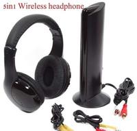 Discount!! 5 in 1  Wireless Headphone Earphone Headset FM radio for PC TV Audio MP4/P5
