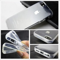 New Style Crystal Clear TPU Silicone Soft Cover Case for Apple iPhone 5 5S