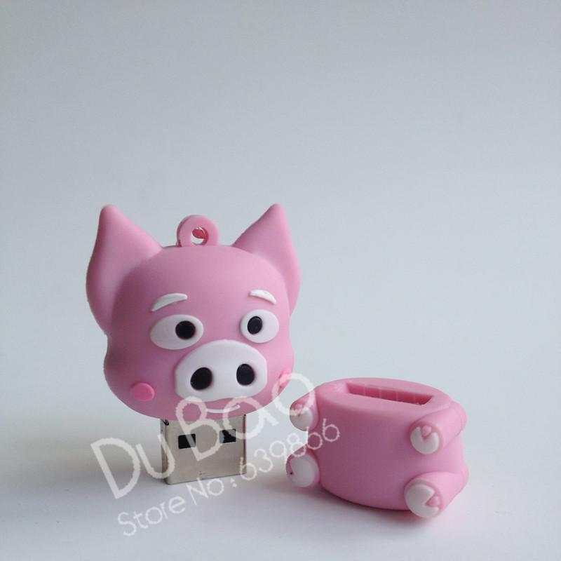 usb flash drive gifts rose pig animal keychain pen drive 4gb 8gb 16gb 32gb Pet Pig pen drive flash usb pendrive memory stick(China (Mainland))