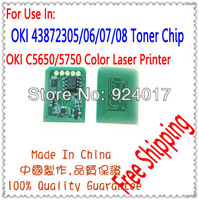 Reset Chip For OKIDATA C5650 C5750 Toner Cartridge,For OKI C5650/C5750 Chip,43872305/06/07/08 Toner Chip For OKI,Free Shipping