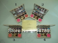 free shipping new makeup 14 colors eye shadow eyeshadow & 2 colors blush blusher with brush(4PCS/LOT)