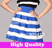 new 2014 autumn -summer stripe mini skirt  woman black and white skirts womens american apparel shorts women winter tutu skirt