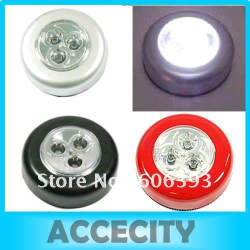 C183pcs/lot 3 LED Cordless Stick Tap Wardrobe Touch Light Lamp Battery Powered(China (Mainland))
