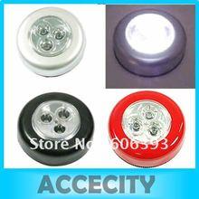 C18+3pcs/lot 3 LED Cordless Stick Tap Wardrobe Touch Light Lamp Battery Powered(China (Mainland))