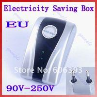 C18Free shipping New Type Power Electricity Saving Box Energy Saver EU Plug 90V-250V