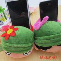 New arrival child cartoon cell phone holder gun small plush toy