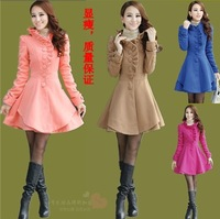 2013 winter women's slim medium-long single breasted wool coat long-sleeve wool outerwear
