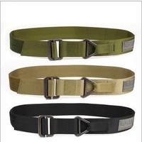 Free Shipping New Fashion CQB Black Hawk Outdoor Tactical Military Belt Man Rescue Rappel Down Belt Canvas Belt   3Colors D0246