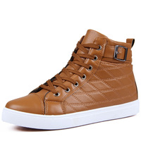 2014 Men Casual winter high-top shoes fashion skateboarding shoes  FREE SHIPPING