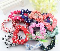 Free Shipping female women girls hair accessories headwear polka dot hair ring hair rope bands GTX-0012