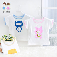 Free Shipping Small fresh baby summer baby summer t-shirt infant 100% cotton top newborn clothes