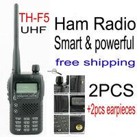 kendio th f5 th-f5 walkie talkie pair radio transmitter portable two way radio ham radio station with earpiece for baofeng uv-5r