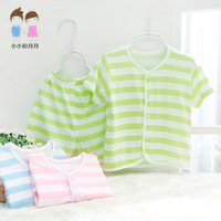 Free Shipping Baby underwear set summer short-sleeve bamboo fibre underwear baby summer newborn clothes child sleepwear