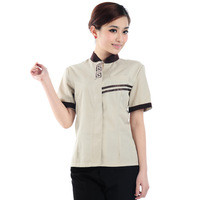 20sets [Top-pant]   cleaning service short-sleeve  Housekeeper suit full set free ship