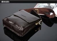 free shipping genuine soft leather  man bag Messenger bag leisure bag briefcase black and brown shoulder bags