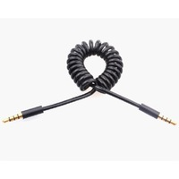 Portable 3.5mm Male to 3.5mm Male Spring Wire Audio Cable