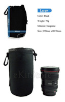 Neoprene DSLR Camera Lens Soft Protector carry Pouch Bag Case - Large L