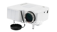 Cheapest Price UC28+ Proyector 24W Mini LED Digital Video Projector w/ SD / AV / VGA / USB / HDMI - White Color Free Shipping