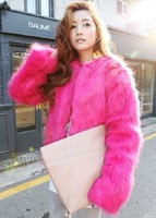 2013 autumn and winter new arrival candy color short jacket fur coat medium-long vest  Free shipping