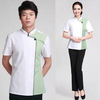 20sets [Shirt-pant]  work wear female work wear work wear set  cleaner full set uniforms free ship