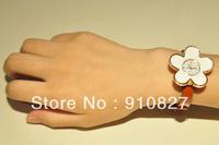 women leather strap quartz watch 2013 fashion women dress watch sunflower wholesale 300pcs DHL free shipping