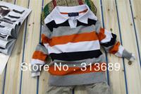 2014 baby boy sweater boy pullover children polo t shirt boys' children Pullover out sweater 1124 D CX