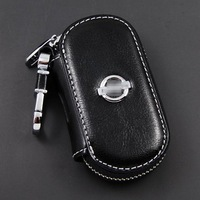 Day window key wallet cover keyrings for Nissan key bags Remote car key case keychain genuine leather car Free shipping