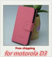 For Motorola D3 Case, New High Quality Faux Leather Wallet Filp Cover Case For Motorola Razr D3 1PCS