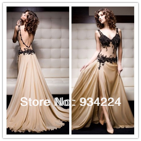 New Fashion Spaghetti Floor Length Women Dress Party Evening Elegant Vestidos De Fiesta Chiffon Modest Lace Prom Formal Dresses(China (Mainland))