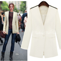 Fall 2013 new elegant Europe fashion slim blue / white /black blazer suits women's blazers and jackets C970