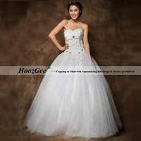 2014 New Arrival Ball Gown Style Sweetheart Floor-Length Luxury Beading Sequins Wedding Dress Diamond Bride Gown HoozGee 23824
