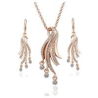 18K gold jewelry set fashion ring Genuine Austrian crystals italina jewelry set,Nickle free antiallergic hztl dkri