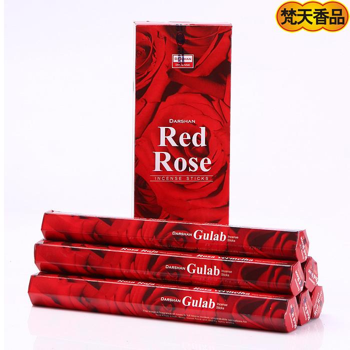 Darshan indian incense handmade soothing valentine rose large box 488 380g(China (Mainland))