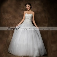 2014 New Arrival Ball Gown Sweetheart Floor-length Luxury Beading Embroidery Elegant Wedding Dress Bride Gown HoozGee 23822
